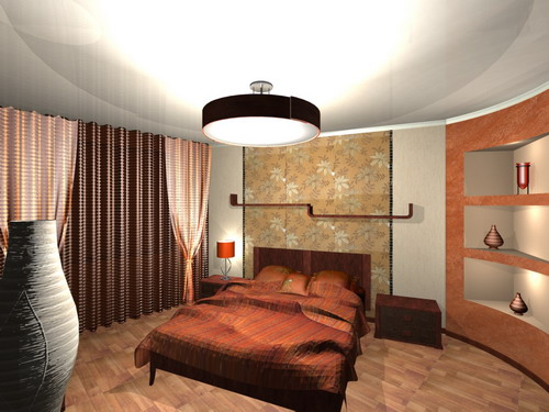 Дизайн трапециевидной спальни